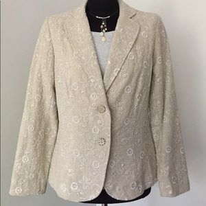 Coldwater Creek Golden Vines Jacket Blazer